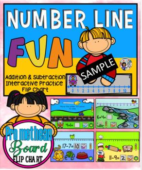 Number Line Fun Promethean Board Flip Chart Free Sample