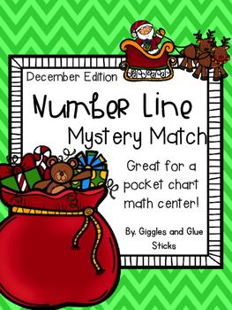 Number Line Mystery Match December Freebie
