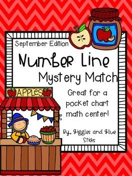 Number Line Mystery Match for September