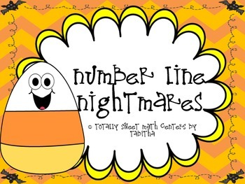 Number Line Nightmare- a Halloween themed Number Line Acti