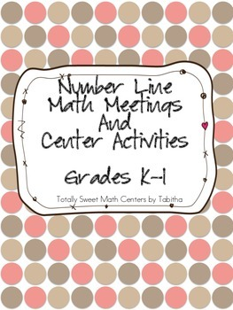 Number Line Number Sense Math Meeting Grades k-1
