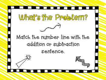 Number Line Number Sentences Center