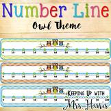 Number Line - Owls