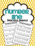 Number Line Practice Sheets {Numbers 0-10}