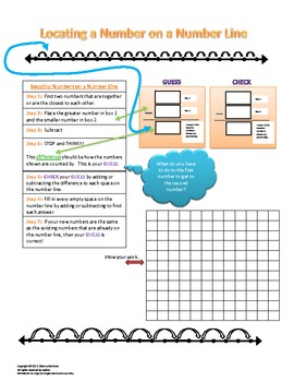 Number Line Practice with Steps and Extend the Table T-Charts