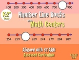 Number Line Rocks!!! Math Center K-2nd
