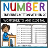 Number Lines Subtraction Worksheets