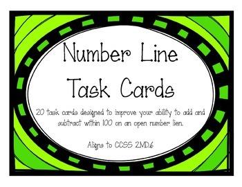 Number Line Task Cards (2.MD.6)