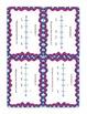 Number Line Task Cards Set 2