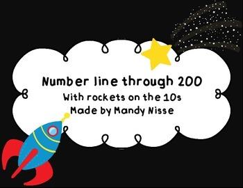 Number Line through 200