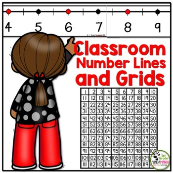 Classroom Number Line and Grids (for the Wall and Student Desks)