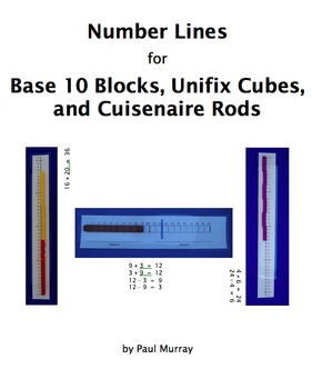 Number Lines for Base 10 Blocks, Unifix Cubes, and Cuisena