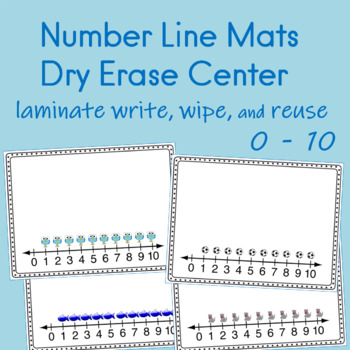 Number Line Mats  for Math Centers