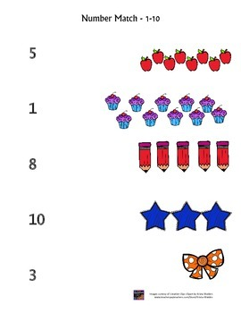 Number Match 1-10 {FREEBIE}