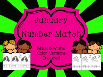 Number Match 1-10 {January}