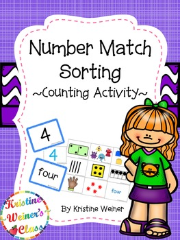 Number Match - Sort {A Counting and Number Activity}