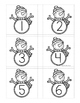 Number Match Up Cards One to One Correspondence WINTER SNO