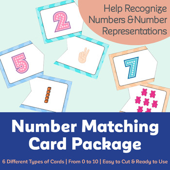 Number Matching Card Package (6 Different Types of Cards)
