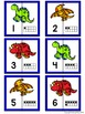 Number Matching Puzzles with Ten Frames - Dinosaurs {Numbe