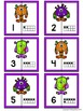 Number Matching Puzzles with Ten Frames - Halloween Monste
