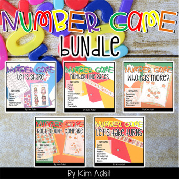 Number Math Game Bundle by Kim Adsit