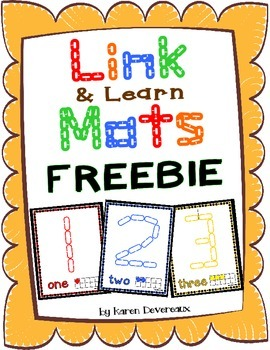 Number Mats for Links - FREEBIE (Playdough Alternative) Li