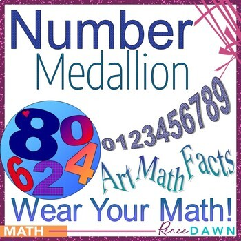 Numbers 0 - 9 Art Medallion