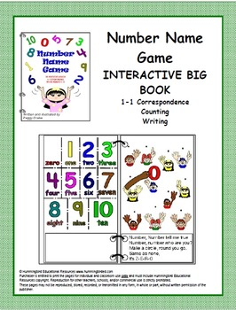 Number Name Game - An Interactive Big Book