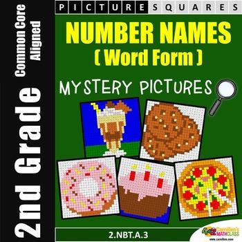 2nd Grade Place Value - Word Form / Number Names Worksheet
