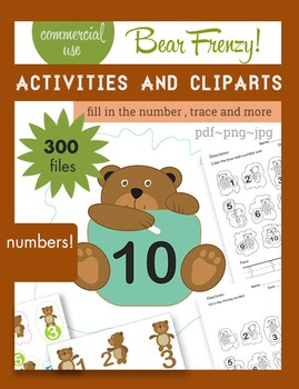Numbers, Numbers, Numbers, ...and bears! Activities + Clip