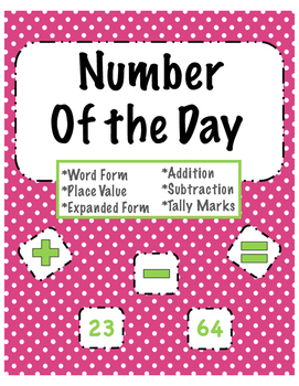 Number Of the Day Printable/ Daily Math Practice- ENGLISH