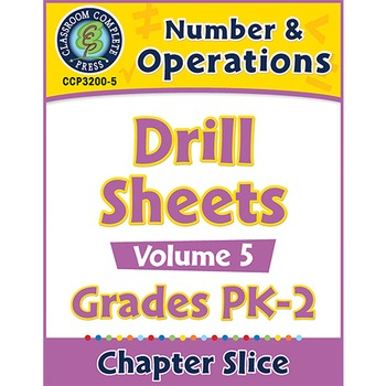 Number & Operations - Drill Sheets Vol. 6 Gr. PK-2