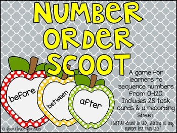 Number Order (Before, After, Between) SCOOT
