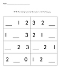 Number Order Practice to 10
