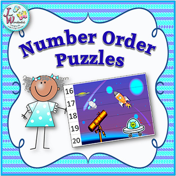 Number Order - Math Centers and Games - Puzzles