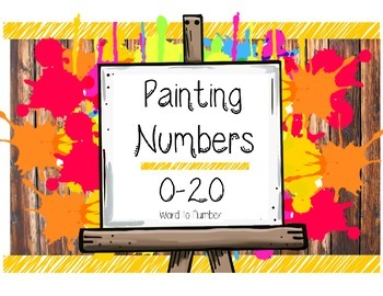 Number Painting - Number Recognition & Writing Worksheet 0