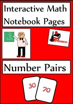 Number Pairs Lesson for Interactive Math Notebooks