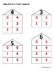 Number Pairs for Number 3,4,5 and 6