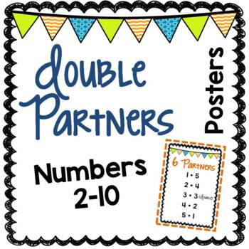 Number Partner Posters - Numbers 2-10
