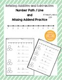 Number Path (Number Line) Subtraction and Addition Practice