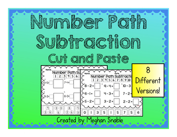 Number Path Subtraction Cut & Paste- Engage New York Supplement