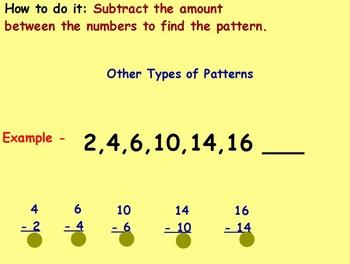 Basic Math Skills-Patterns - Number Patterns (worksheet in