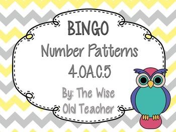 Number Patterns Bingo Game PowerPoint with Blank Bingo Car