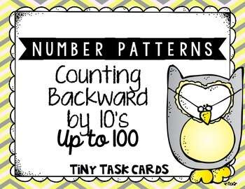 Number Patterns Counting Backward by 10s up to 100 Tiny Ta