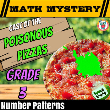 Number Patterns Math Mystery Activity: Continuing & Missin