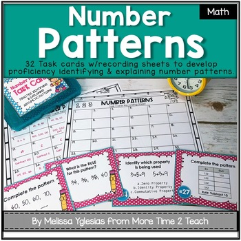 Number Patterns Task Cards