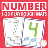 Number Play Dough Mats 0-20