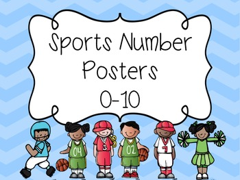 Number Poster to 10- Sports