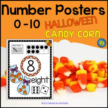 Math - Number Anchor Charts 0-10 ~ Halloween – Candy Corns