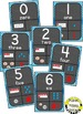 Number Posters 0-20 Aqua and Chalkboard Theme